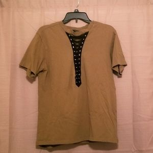 Olive green forever 21 tie up shirt
